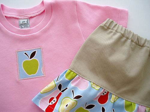 American As Apple Pie Girlie Skirtie Set C3