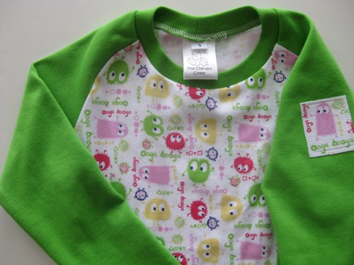 Lime Ooga Big-Kid Raglan